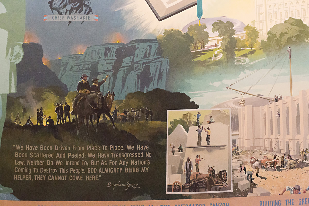 Mural on Story Of Us Westward Expansion
